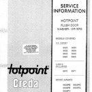 Hotpoint 9936PY Washing Machine Service Manual