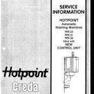 Hotpoint WM32 (WM-32) Washing Machine Service Manual