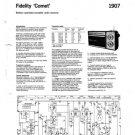 Fidelity Comet Radio Service Sheets Schematics Set