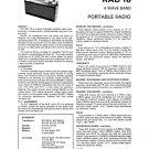 Fidelity RAD16 (RAD-16) Radio Service Sheets Schematics Set