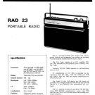 Fidelity RAD23 (RAD-23) Radio Service Sheets Schematics Set
