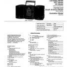 Sony CFDZ130 (CFD-Z130) (CFDZ-130) Music System Service Manual