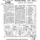 McMichael 371AC Vintage Valve Service Sheets Schematics Set