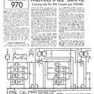 McMichael 505ARG Vintage Valve Service Sheets Schematics Set