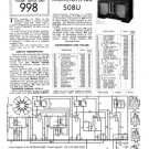 McMichael 508U 2 Vintage Valve Service Sheets Schematics Set