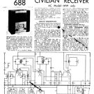 Wartime Civilian Receiver AC Model MW Only Service Sheets Schematic Set