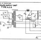 Marconi AC4 (AC-4) Power Supply Circuit Diagram Schematics Set only