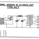 Marconi AC7 (AC-7) Power Supply Circuit Diagram Schematics Set only
