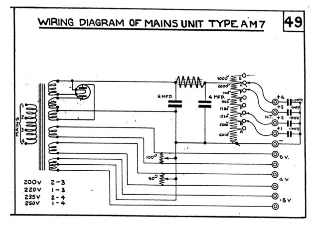 marconi am7 am 7 power supply circuit diagram schematics. Black Bedroom Furniture Sets. Home Design Ideas