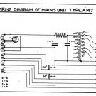 Marconi AM7 (AM-7) Power Supply Circuit Diagram Schematics Set only