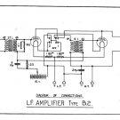 Marconi B2 (B-2) LF Amp Circuit Diagram Schematics Set only