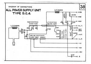 Marconi DC4 (DC-4) Power Supply Circuit Diagram Schematics Set only