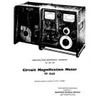 Marconi TF1245 (TF-1245) Magnification Meter Instructions Schematics etc and Operating