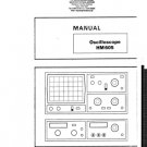 Hameg HM605 (HM-605) Oscilloscope Instructions Schematics etc and Operating