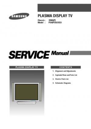 Samsung PS42P3XEU (PS-42P3XEU) Television Service Manual