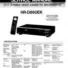 JVC HRD860EK (HR-D860EK) (HRD-860EK) Video Recorder Workshop Service Manual