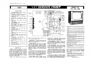 Ferranti 17K5 Television Service Sheets Schematics Set