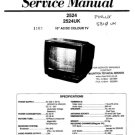 Finlux 2524 Television Service Manual