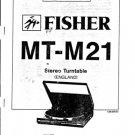 Fisher MTM21 (MT-M21) (MTM-21) TT Service Manual
