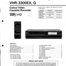 Sanyo VHR3300EX, G (VHR-3300) Video Recorder Service Manual