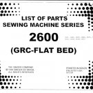 Singer 2602 Sewing Machine Parts Lists and Exploded Views etc