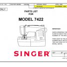 Singer 7212 Sewing Machine Parts Lists and Exploded Views etc