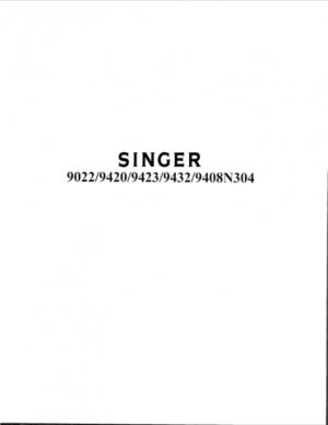 Singer 9420 Sewing Machine Parts Lists and Exploded Views etc