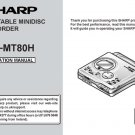 Sharp MDMT80H (MD-MT80H) (MDMT-80H) CD Player Operating Guide User Instructions