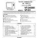 Sharp VT51 (VT-51) Television Video Workshop Service Manual