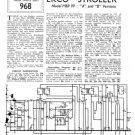 Ekco MBP99 (MBP-99) (A) (B) Radio Service Sheets Schematics etc