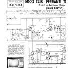 Ekco T418 (T-418) Television Service Sheets Schematics etc