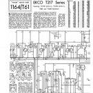 Ekco TC206 (TC-206) Television Service Sheets Schematics etc