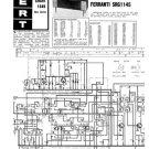 Ferranti SRG1145 (SRG-1145) Radiogram Service Sheets Schematics etc