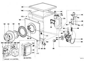 Hoover AC168 (AC-168) Washing Machine Workshop Service Manual