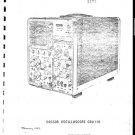 Cossor CDU110 (CDU-110) Oscilloscope Instructions Schematics Circuits Operating etc