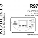Roberts R972 (R-972) Analogue Radio Operating Guide User Instructions