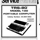 Radio Shack 26-3802 Model 100 Computer Service Manual