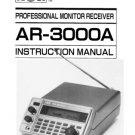 AOR AR3000A (AR-3000A) Scanner Operating Guide User Instructions