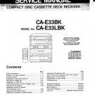 JVC CAE33 (CA-E33) (CAE-33) BK LBK Cassette Deck Service Manual