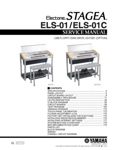 yamaha els01 els 01 keyboard service manual with schematics. Black Bedroom Furniture Sets. Home Design Ideas