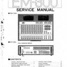 Yamaha EM300 (EM-300) Mixer Service Manual with Schematics