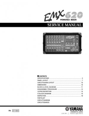 Yamaha Emx Manual