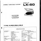 Aiwa LX50 (LX-50) Turntable Service Manual