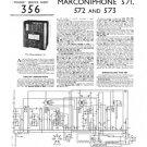 Marconi 571 Vintage Wireless Service Sheets Schematics etc