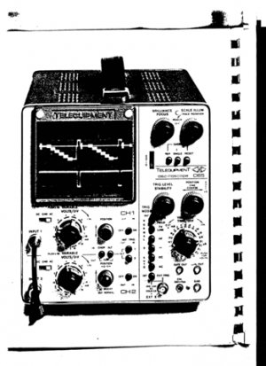 Telequipment D66 (D-66) Oscilloscope Service Manual