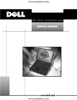 Dell Latitude CPt V Series Laptop Service Manual
