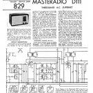 Masteradio D111 (D-111) Service Manual