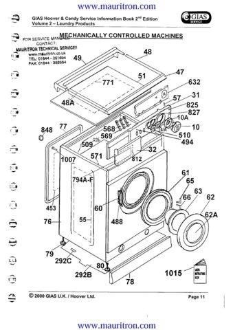 hoover ca230 ca 230 washing machine service manual. Black Bedroom Furniture Sets. Home Design Ideas
