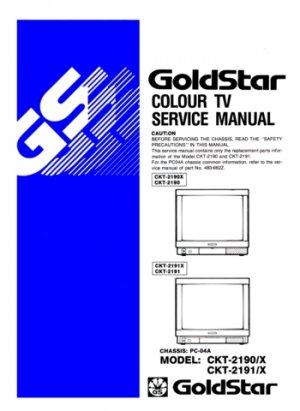 Goldstar CKT2191 (CKT-2191) X Technical Repair Schematics Circuits Service Manual