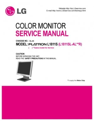 LG CL43 (CL-43) Chassis Technical Repair Schematics Circuits Service Manual